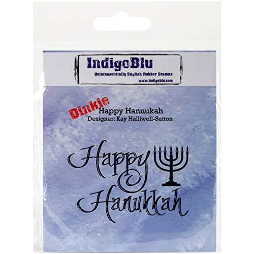 IndigoBlau IND0214 IND0214 IND0214 Cling Mounted Stamp, 3 x 3, Happy Hannukah, rot by IndigoBlau B01KBB5X3G | Exquisite Verarbeitung  | Neuheit Spielzeug  | Flagship-Store  3f3420