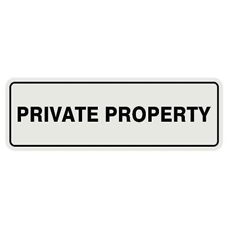 Amazon.com: Puerta de propiedad privada estándar/Letrero De ...
