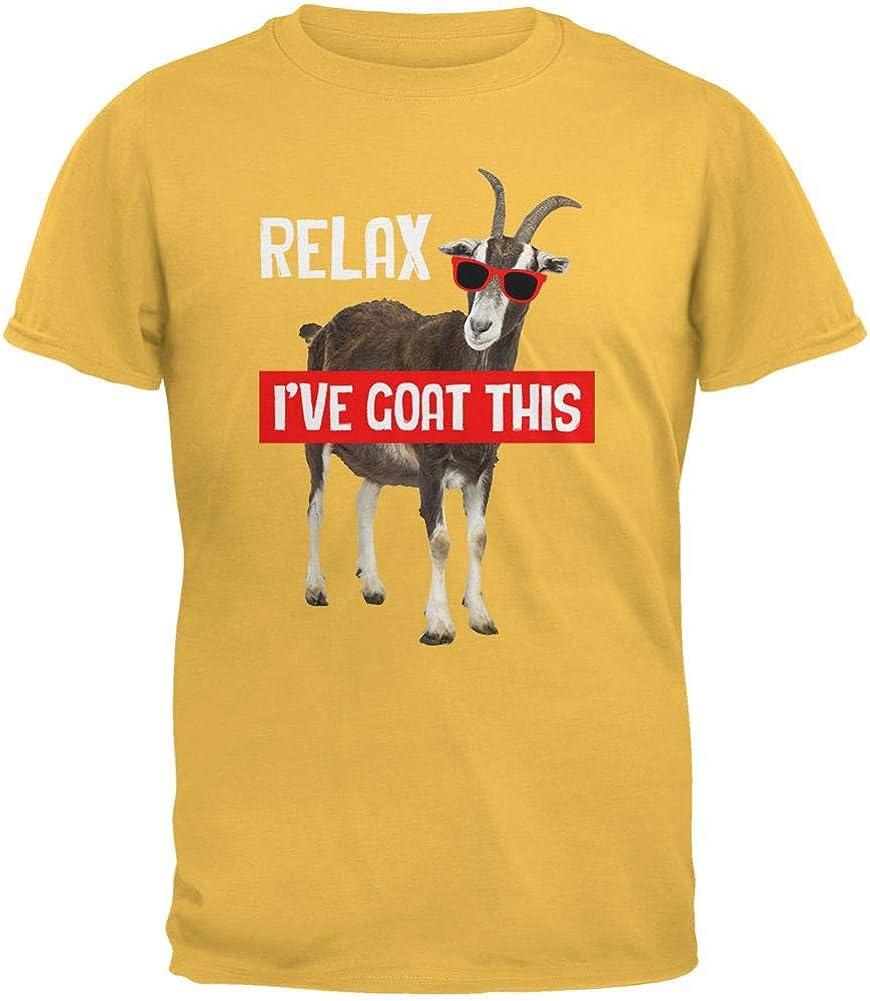 Animal World Relax I've Goat Got This Mens T Shirt