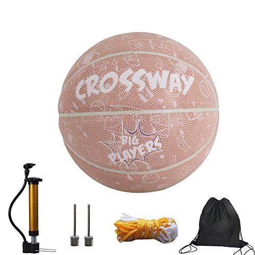 jiutinggood Balón de Baloncesto tamaño 7, Canasta de Adulto, Juego ...