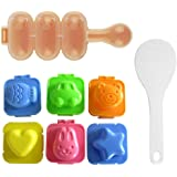 SQdeal HG6 Cartoon Cute Boil Egg Sushi Rice Decorating Mold Mould (Pack of 6)