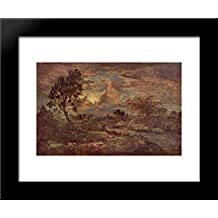 Sunset at Arbonne 20x24 Framed Art Print by Theodore Rousseau