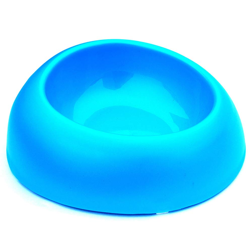 bluee Forever-You Pet Bowl Dog Rice Basin Dog Bowl Food Basin Cat Bowl Basin Water Bowl cat Round Bowl Thicken bluee