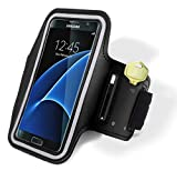 Samsung Galaxy S7 Edge Armband, Bastex Black Runners Armband Case with Key Slot for Samsung Galaxy S7 Edge G935
