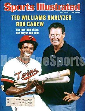 1977 Rod - 1977 Rod Carew Ted Williams Sports Illustrated