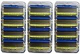 5 blade sensitive razor - Schick Hydro 5 Mens Sensitive Razor Blade Refills 12 Count - Unboxed