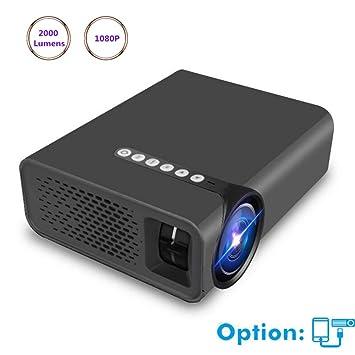 Proyector Proyectores Mini proyector 2000 lúmenes 1080p HD para ...