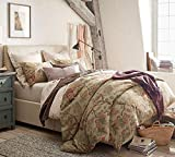 Pottery Barn Duvet Covers Pottery Barn Grace Floral Linen Texture King/California Duvet + 2 King Shams