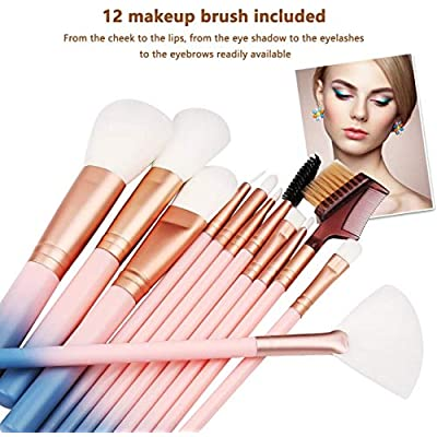 Makeup Brush Sets – 12 Pcs Makeup Brushes for Foundation Eyeshadow Eyebrow Eyeliner Blush Powder Concealer Contour