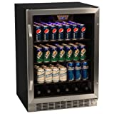 Appliances : EdgeStar CBR1501SG 24 Inch 148 Can Built-in Beverage Cooler