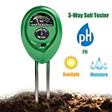 Soil Tester 3-in-1 Moisture Light PH Multifunctional Soil Acidity Test Kit, Best Probe Tester for...
