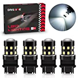BRISHINE 4-Pack 1000 Lumens Super Bright 3157 3156 3057 3056 3157K LED Bulbs 6000K Xenon White 24-SMD LED Chipsets with Projector for Backup Reverse Lights, Parking Lights, Daytime Running Lights