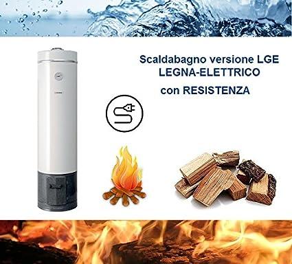 Calentador de agua a leña/eléctrico por acumulación (80 litros), de acero