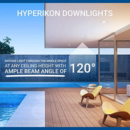 Hyperikon 6 Inch LED Downlight (5 Inch Compatible), Dimmable, 14W (75W Replacement), Retrofit LED Recessed Lighting Fixture, 3000K (Soft White Glow), CRI92, ENERGY STAR LED Ceiling Light (16 Pack) by Hyperikon (Image #5)