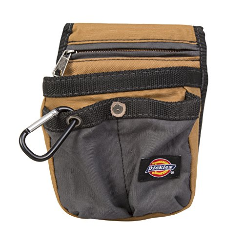 Dickies Work Gear 57005 Grey/Tan Tool Pouch with Security Zipper Pocket - Security Tools