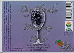 Dry Florida Blueberry - SEMI-DRY Blueberry Wine