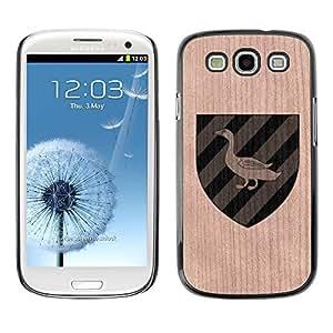 - Goose Coat Arms Official Fancy - - Funda Delgada Cubierta Case Cover de Madera FOR Samsung Galaxy S3 I9300 I9308 I737 BullDog Case