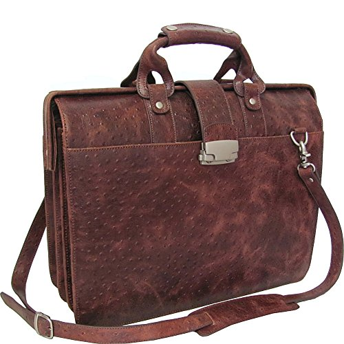 amerileather-leather-doctors-carriage-bag-brown-ostrich-print-6