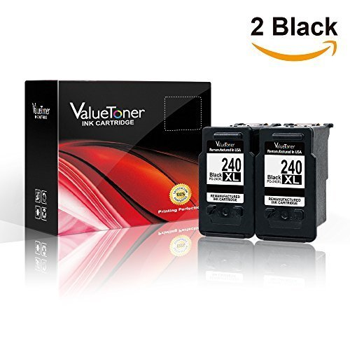 Valuetoner MG3620, Remanufactured Ink Cartridge Replacement PG-240XL 240XL High Yield (2 Black) for Pixma MX532 MG2120 MG2220 MG3120 MG3122 MG3220 MG3222 MX432 MG3520 MX452 MX512 Printer Photo #3