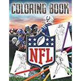 NFL Coloring Book: The Ultimate Football Coloring, Stats and Activity Book for Adults and Kids!