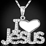 U7 Christian Jewelry 22 Inch Chain Platinum Plated