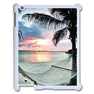 Beach Hammock - Palm Trees Ocean Discount Personalized Cell Phone Case for iPad 2,3,4, Beach Hammock - Palm Trees Ocean iPad 2,3,4 Cover