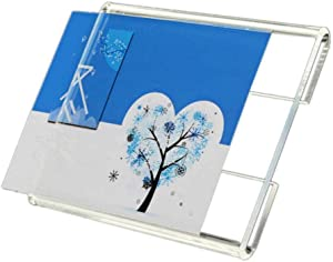 20PCS Wall Mount Acrylic Price Label Holder, Acrylic Sign Holder Counter Top Stand Display with Adhesive Tape Stick (Paper Size 2.36x3.54inch)