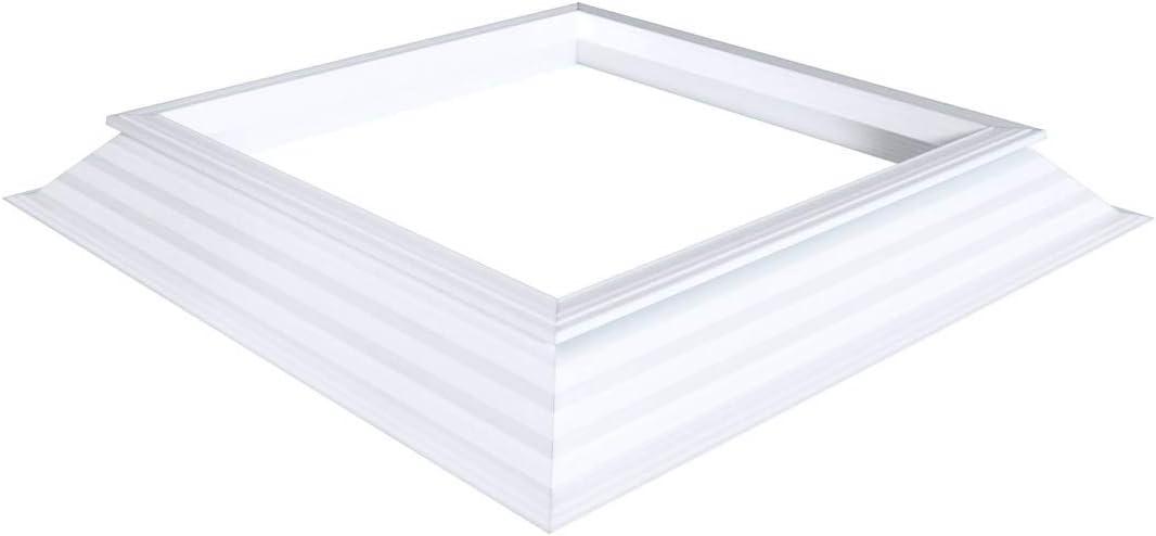 PVC-Aufsatzkranz 16//20 EP Aufsatzkranz Ma/ß Tageslichtma/ß 40 x 40 Dach/öffnung 60 x 60 cm