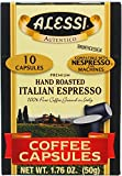 Alessi Hand Roasted Italian Espresso Coffee Capsules, 10 Per Pack (Pack of 12)