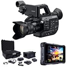 Sony PXW-FS5 4K XDCAM Camera System with Super 35 CMOS Sensor with 18-105mm E-Mount Zoom f/4 G OSS Lens Bundle With Atomos Shogun Inferno Monitor Recorder, Atomos Accessory Kit for Inferno