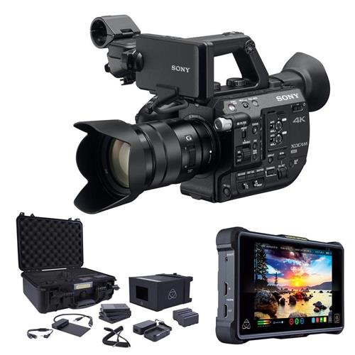 Sony PXW-FS5 4K XDCAM Camera System with Super 35 CMOS Sensor with 18-105mm E-Mount Zoom f/4 G OSS Lens Bundle With Atomos Shogun Inferno Monitor Recorder, Atomos Accessory Kit for Inferno by Sony
