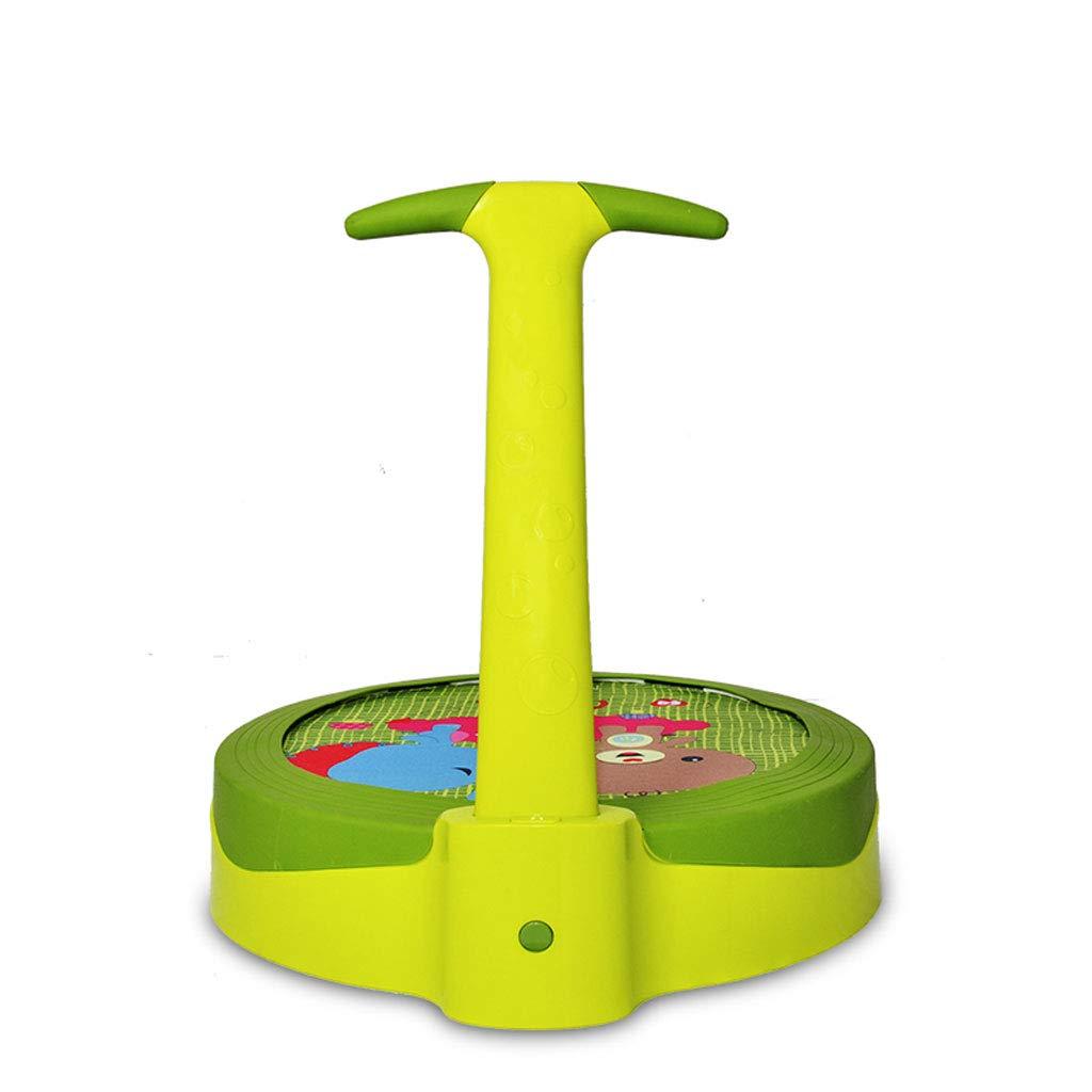 XUANLAN Grünes Trampolin für Kinder mit Armlehnen Trampolin Indoor-Kindertrampolin für Kinder
