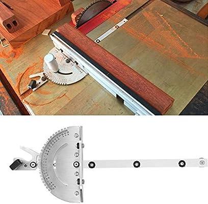 Mitre Gauge Herramienta La Carpinter/ía Aluminio Manija Empuje Metal For Trabajar Madera Medidor Medici/ón Accesorios Cinta Sierra De Mesa