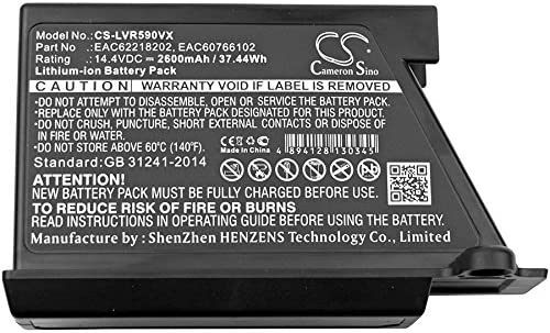 CS-LVR590VX Batería 2600mAh Compatible con [LG] HomBot R66803VMNP ...