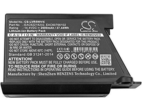 CS 2600 mAh batería de ion de litio compatible con LG vr34406lv ...