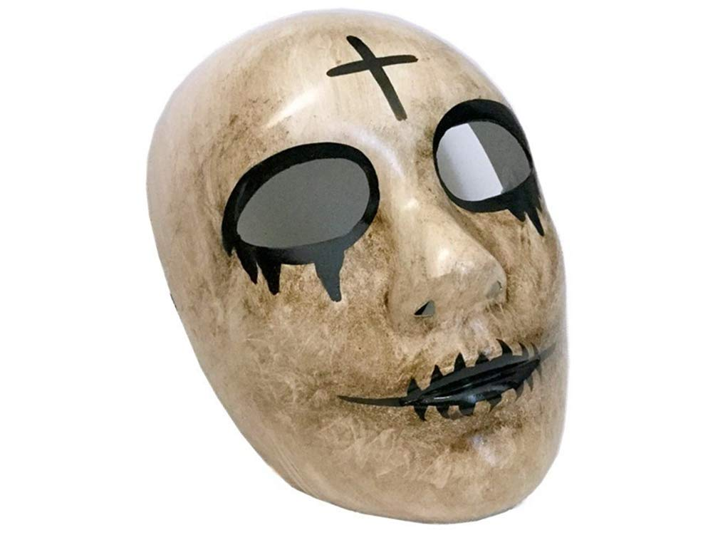 ANARCHY HORROR Killer Halloween THE PURGE MOVIE Cross GOD KISSME Mask Costume