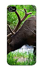 Iphone 5/5s Hard Back With Bumper Silicone Gel Tpu Case Cover For Lover's Gift Animal Deer