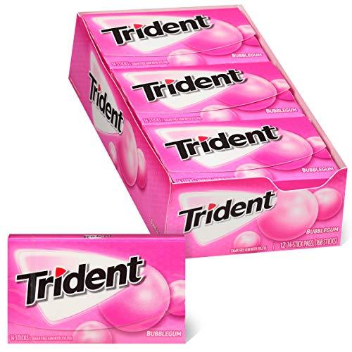 Trident Bubblegum Sugar Free Gum, Made with