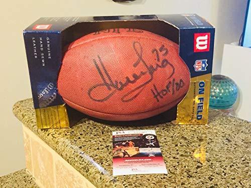 Howie Long HOF Autographed Signed Duke Wilson NFL Football JSA Coa