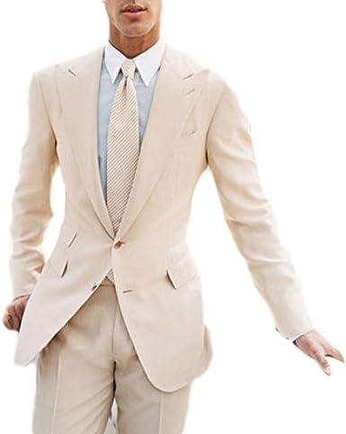 Man Summer Beach Wedding Grooms Groomsmen Vest Coat New Suit 2 Pieces Bespoke LP