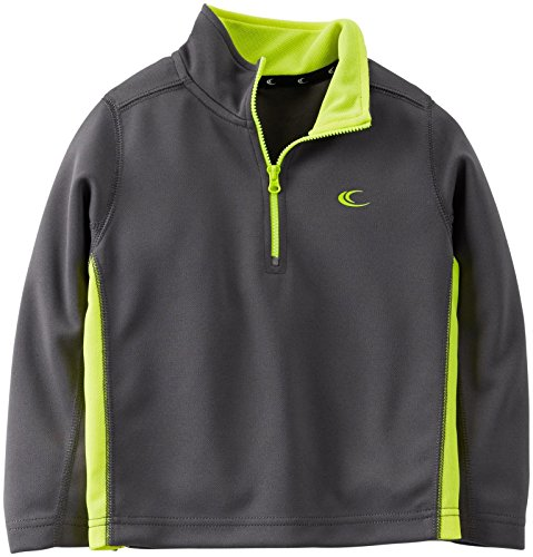 Boys Active Half Zip Pullover (4, Charcoal) (Carters Toddler Boys Pull)