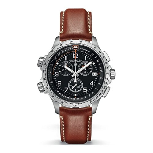 Hamilton-X-Wind-GMT-H77912535-Black-Brown-Leather-Analog-Quartz-Mens-Watch