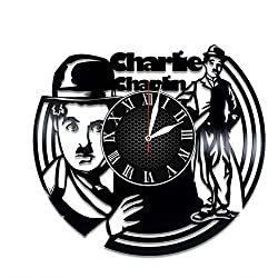 Charlie Chaplin Actor Handmade Vinyl Record Wall Clock, Get Unique Bedroom or Nursery Wall Decor - Gift Ideas for Kids and Teens - Unique Art Design