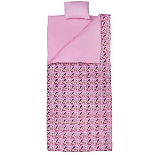 Wildkin Sleeping Bag, Horses in Pink
