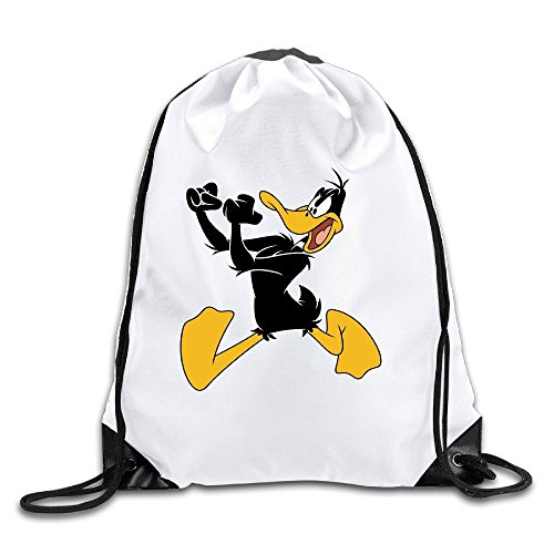 Daffy Duck Lightweight Drawstring Gift Bags Backpack White Size One Size