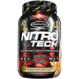 MuscleTech NitroTech Protein Powder, 100% Whey Protein with Whey Isolate, Chocolate Chip Cookie Dough, 2 Pound