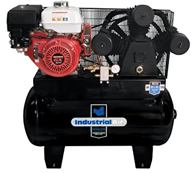 Industrial Air IHA9093080.ES 30-Gallon Gas Powered Truck Mount Air Compressor with Electric Start from MAT Holdings