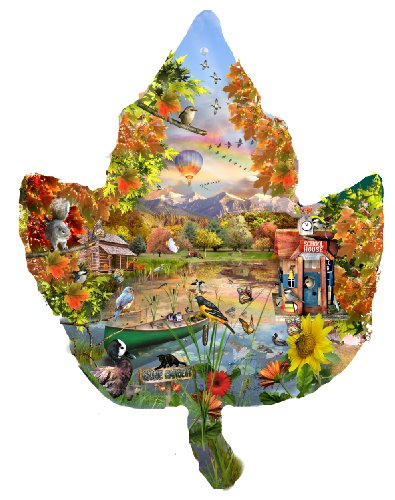 Autumn Shoreline 1000 pc Jigsaw Puzzle