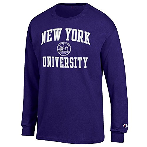 New York University Violets Long Sleeve Tshirt Seal Purple   Xxl