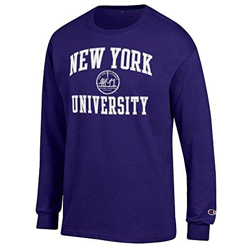 Elite Fan Shop New York University Violets Long Sleeve Tshirt Seal Purple   Xl